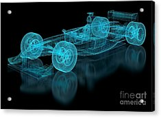 Formula One Mesh. Part Of A Series Acrylic Print