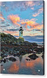 Acrylic Print featuring the photograph Fort Pickering Light  by Juergen Roth