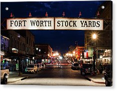 Fort Worth Stock Yards 112318 Acrylic Print