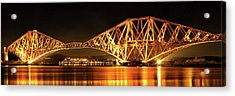 Acrylic Print featuring the photograph Forth Railway Bridge - Night by Grant Glendinning