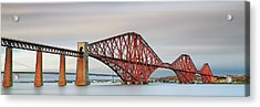 Acrylic Print featuring the photograph Forth Railway Bridge - South Queensferry by Grant Glendinning