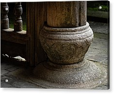 Foundation Stone Under Wooden Pole Used In Chinese Architecture Acrylic Print