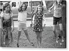 Four Girls, Jumping, 1972 Acrylic Print