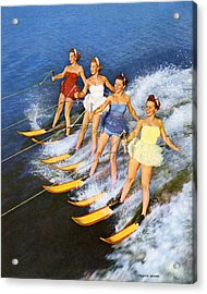 Four Women Waterskiing Acrylic Print