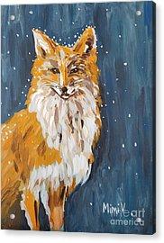 Fox Winter Night Acrylic Print