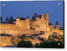 France, Languedoc, Carcassonne, Castle Acrylic Print by Martin Child