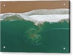 France, Manche, Baubigny, Beach, Tidal Acrylic Print by Cormon Francis / Hemis.fr