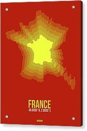 France Radiant Map I Acrylic Print