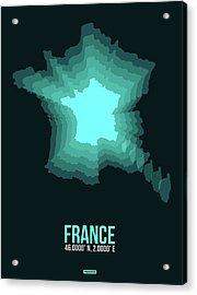 France Radiant Map II Acrylic Print