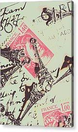 Francs Script Acrylic Print