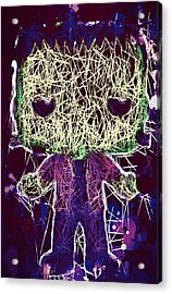 Acrylic Print featuring the mixed media Frankenstein Pop by Al Matra
