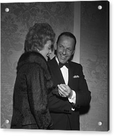 Frank Sinatra And Lucille Ball Acrylic Print by Michael Ochs Archives