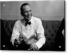 Frank Sinatra Backstage At The Sands Acrylic Print by John Dominis