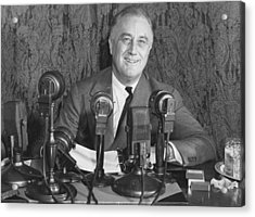 Franklin D Roosevelt Acrylic Print by Central Press