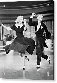 Fred Astaire And Ginger Rogers Dancing Acrylic Print