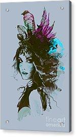 Free Hand Fashion Illustration With A Acrylic Print