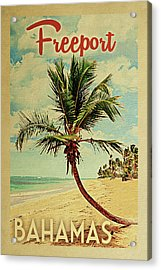 Freeport Bahamas Palm Tree Acrylic Print