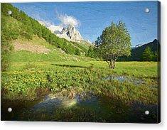 French Alps Valley II Acrylic Print