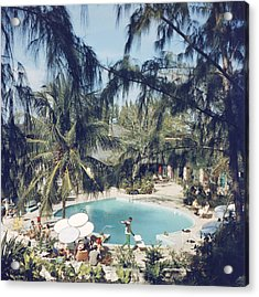 French Leave Hotel Acrylic Print by Slim Aarons