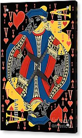 French Playing Card - Lahire, Valet De Coeur, Jack Of Hearts Pop Art - #2 Acrylic Print