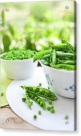 Fresh Garden Peas Acrylic Print by Jasmina007