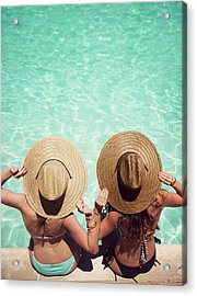 Friends By The Pool Acrylic Print