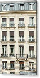 Front View Of Paris Architecture Acrylic Print