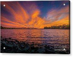Frontenac Ferry Sunset Acrylic Print