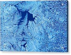 Frost Patterns On Window Glass Acrylic Print