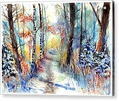 Frosty Blades Of Grass Acrylic Print