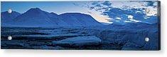 frozen coastline near Longyearbyen Acrylic Print