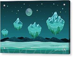 Frozen Game Planet Horizontal Acrylic Print