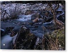 Frozen River II Acrylic Print