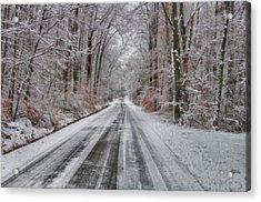 Frozen Road Acrylic Print
