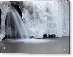 Frozen Waterfall Acrylic Print by Terryfic3d