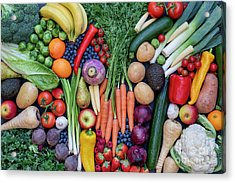 Acrylic Print featuring the photograph Fruit And Vegetables by Tim Gainey