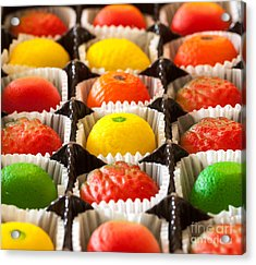 Fruit Shaped Candies In Macro Image Of Acrylic Print