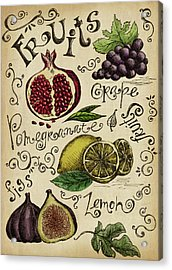 Fruits Acrylic Print by Kalistratova