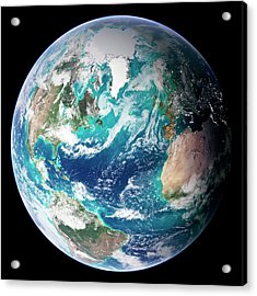Full Earth, Close-up Acrylic Print by Science Photo Library - Nasa Earth Observatory