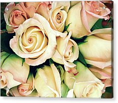 Full Frame Cross Processed Rose Bouquet Acrylic Print by Travelif