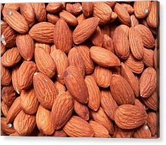 Full Frame Shot Of Almonds Acrylic Print by Frank Schiefelbein / Eyeem