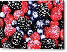 Full Frame Shot Of Fresh Fruits Acrylic Print by Piergiuseppe Corvino / Eyeem