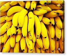 Full Frame Shot Of Yellow Bananas Acrylic Print by Daisy De Los Angeles / Eyeem