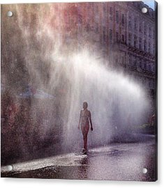 Full Length Of A Young Woman Walking In Acrylic Print by Daniel Kriebel / Eyeem