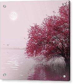 Full Moon On The Lake Acrylic Print