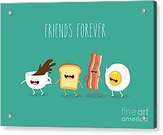 Funny Breakfast. Up Of Coffee, Egg Acrylic Print