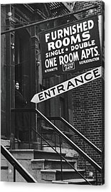 Furnished Rooms Acrylic Print by Fred W. McDarrah