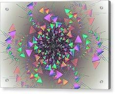 Acrylic Print featuring the digital art Fusion by Vitaly Mishurovsky