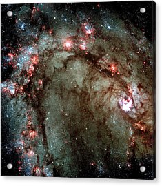 Acrylic Print featuring the photograph Galaxy M83 Star Birth Outer Space Image by Bill Swartwout Fine Art Photography