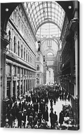 Galleria Umberto Acrylic Print by General Photographic Agency
